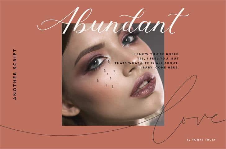 Download Abundant font (typeface)