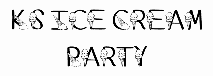 Download Ks Ice Cream Party font (typeface)