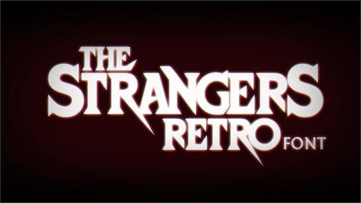 Download StrangersRetro font (typeface)