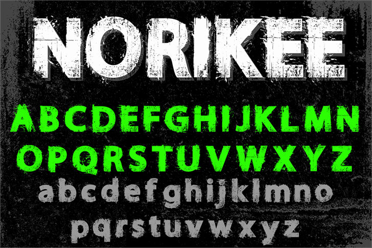 Download NORIKEE font (typeface)