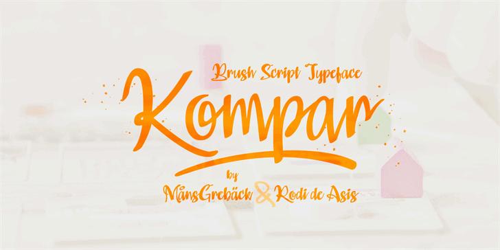 Kompar Light шрифт скачать бесплатно