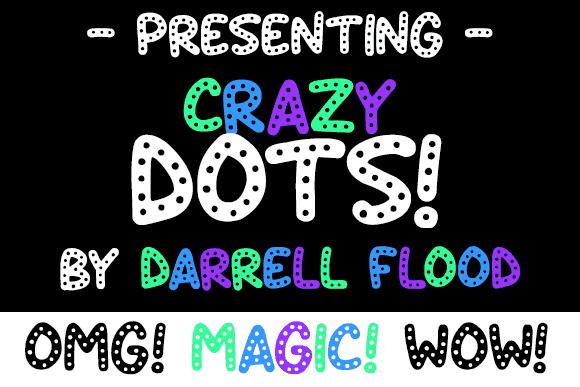 Crazy Dots шрифт скачать бесплатно