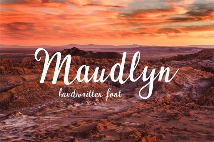 Download Maudlyn font (typeface)