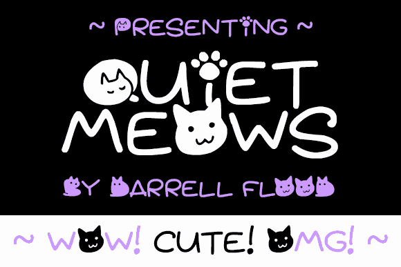 Download Quiet Meows font (typeface)