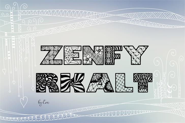 Zenfyrkalt шрифт скачать бесплатно