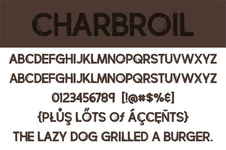 Download Charbroil font (typeface)