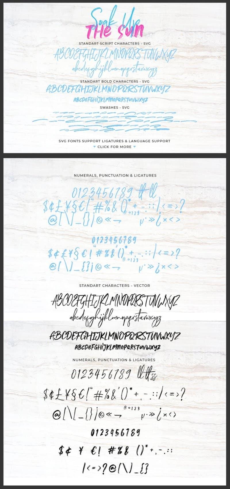 Download Soak Up font (typeface)