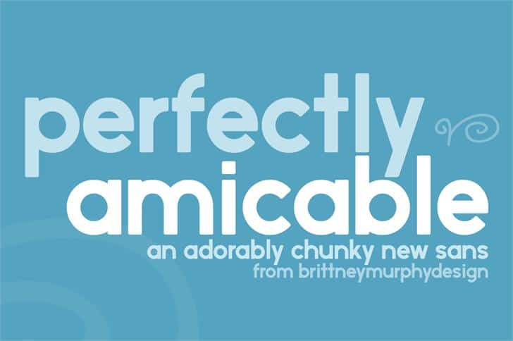 Download Perfectly amicable font (typeface)