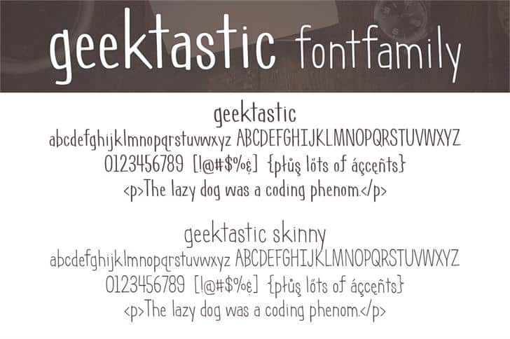Download Geektastic font (typeface)