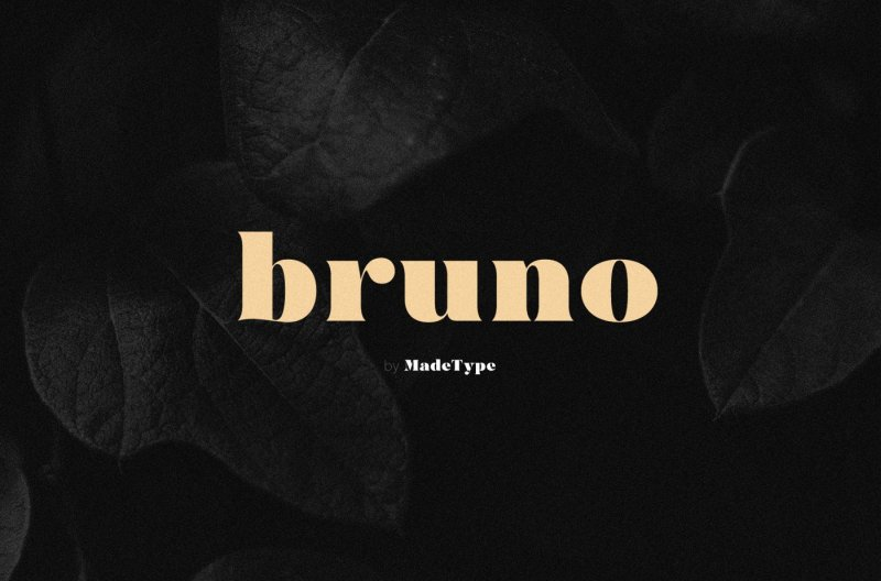Download MADE Bruno font (typeface)