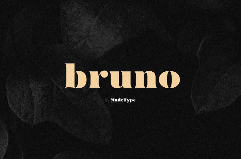 MADE Bruno шрифт скачать бесплатно
