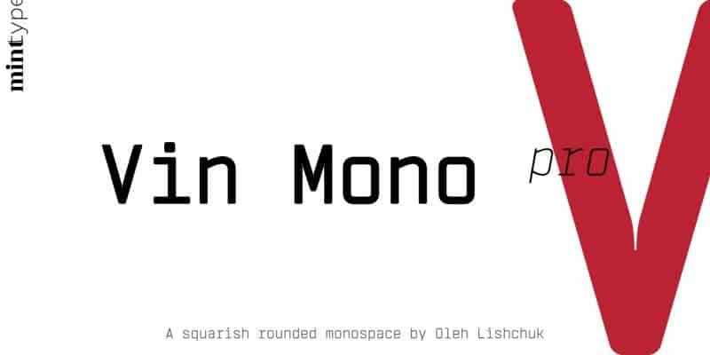 Download Vin Mono Light font (typeface)