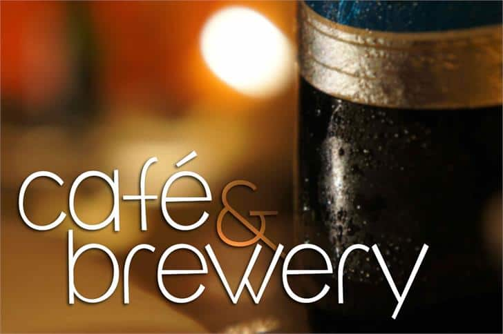 Download café & brewery font (typeface)