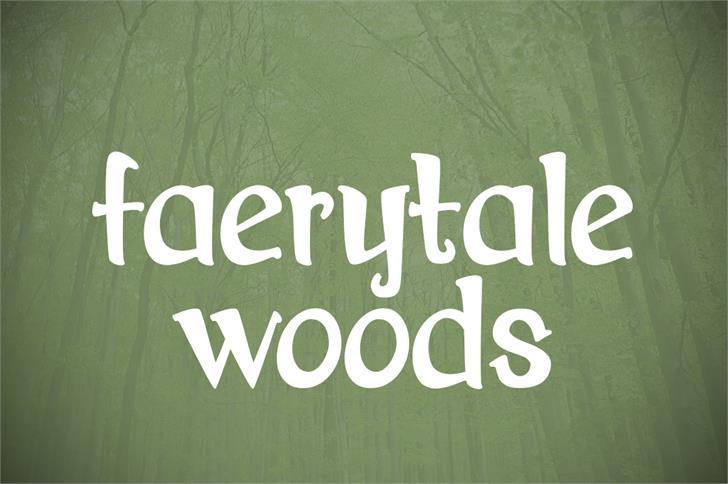 Download Faerytale Woods font (typeface)
