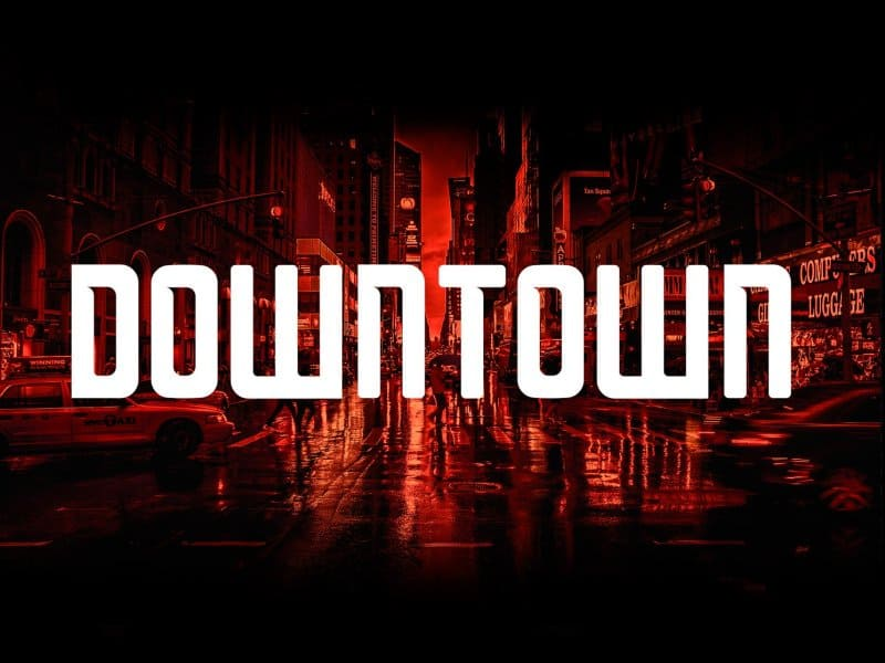 Download Downtown font (typeface)