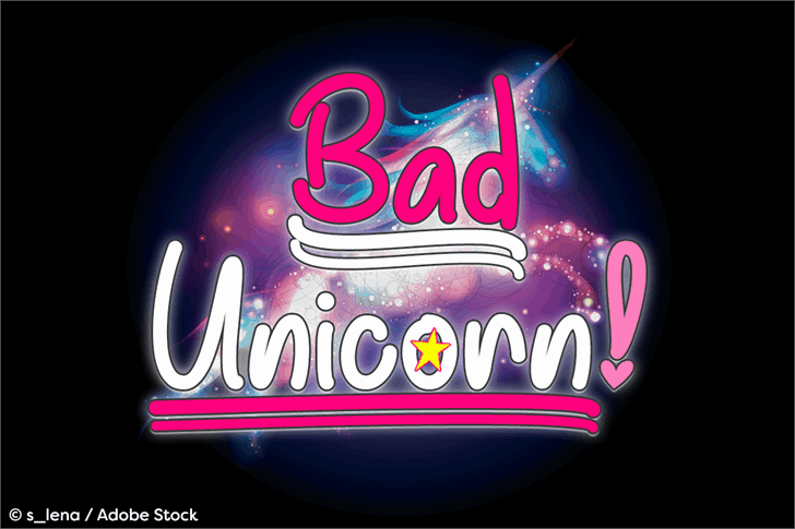 Download Bad Unicorn font (typeface)