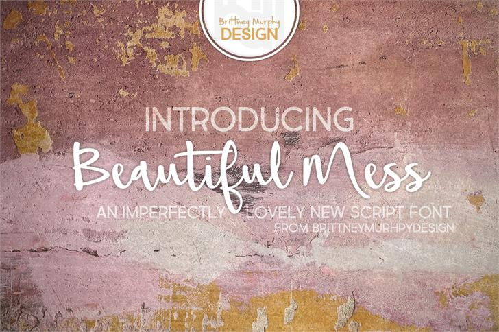 Download Beautiful Mess font (typeface)