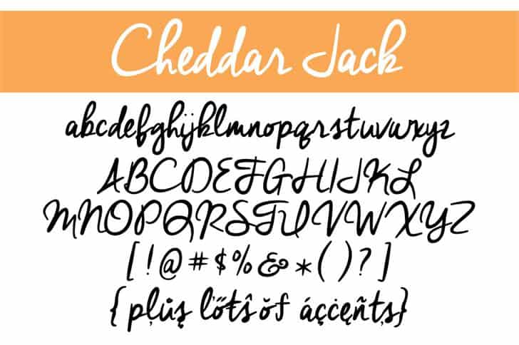 Download Cheddar Jack font (typeface)
