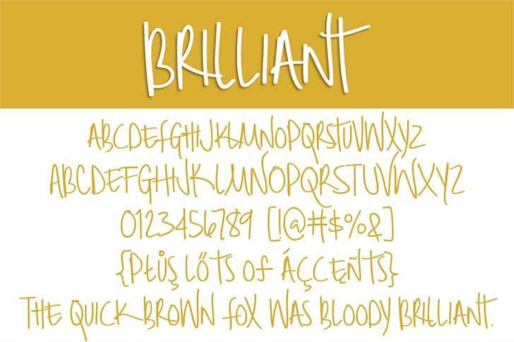 Download Brilliant font (typeface)