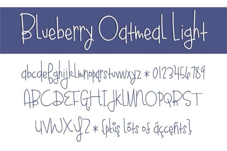 Download Blueberry Oatmeal font (typeface)