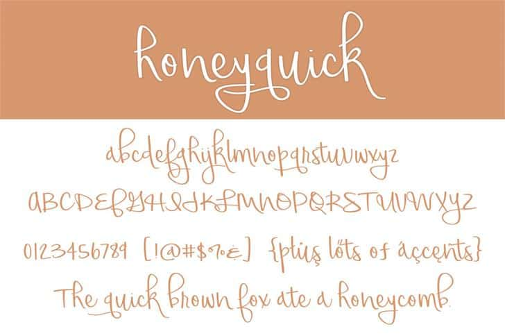 Download Honeyquick font (typeface)