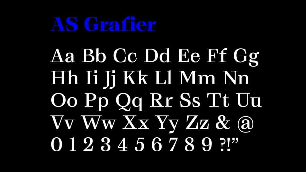 Download AS Grafier font (typeface)