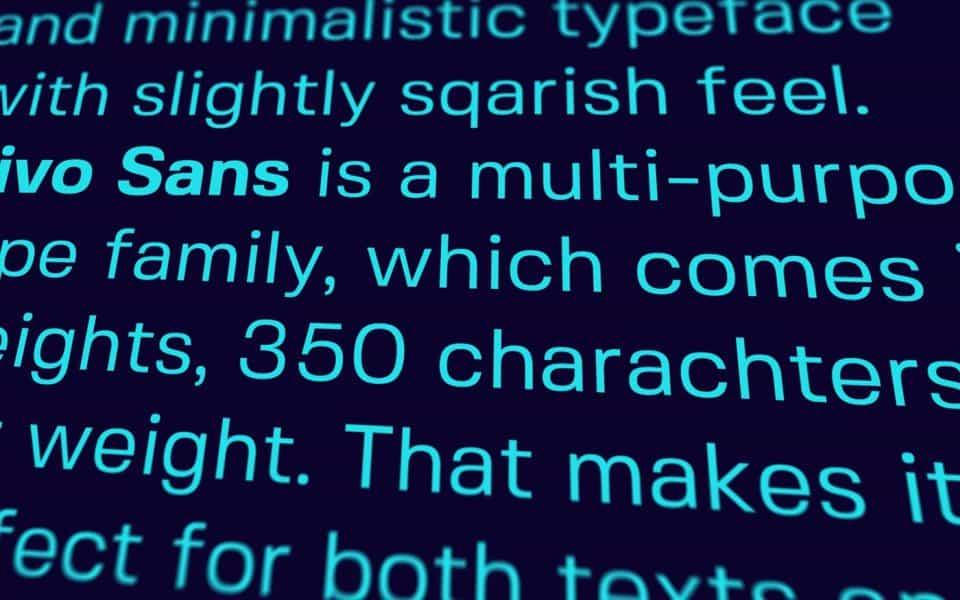Download Fivo Sans font (typeface)