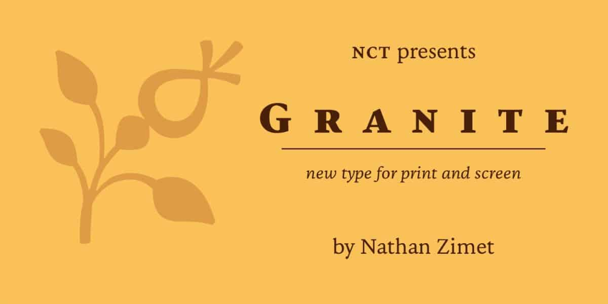 Download NCT Granite font (typeface)