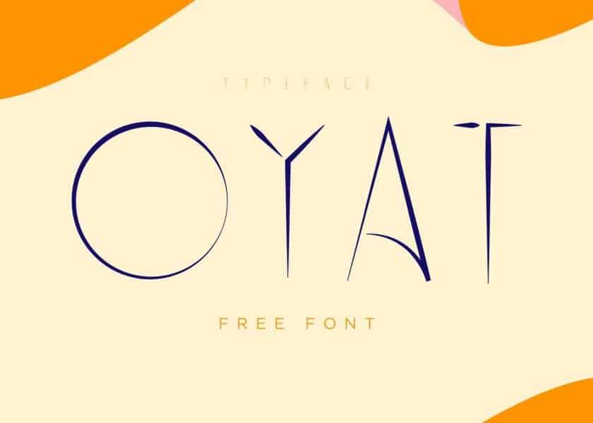 Oyat шрифт скачать бесплатно