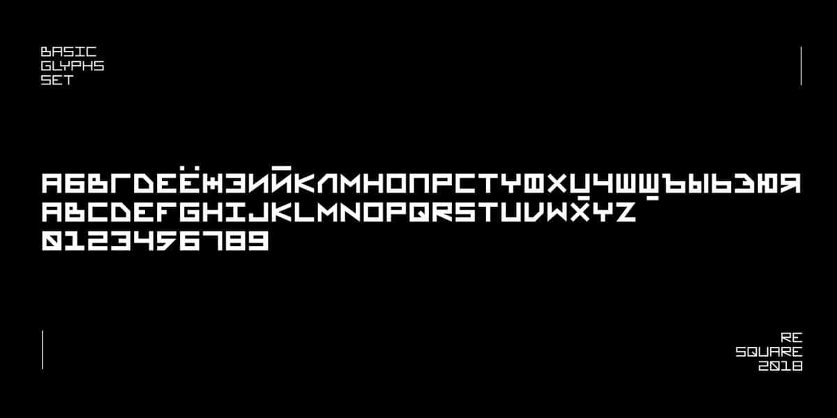 Download ReSquare font (typeface)