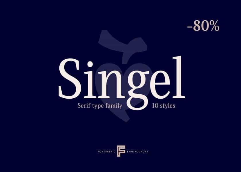 Download Singel SemiBold font (typeface)