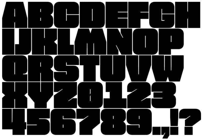 Download FREE FAT FONT font (typeface)