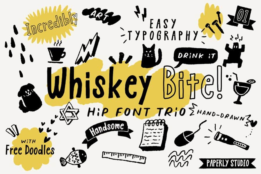 Download Whiskey Bite font (typeface)
