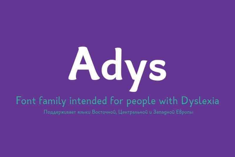 Download Adys font (typeface)