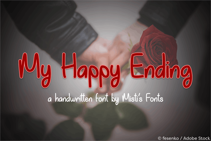 Download My Happy Ending font (typeface)
