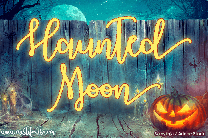 Download Haunted Moon font (typeface)