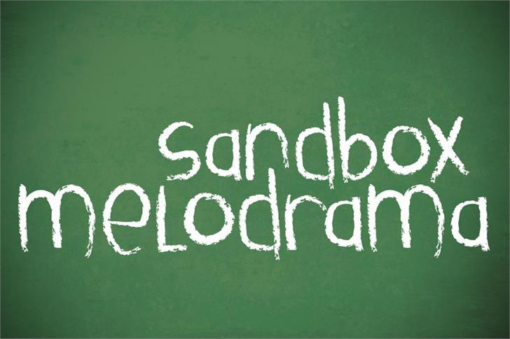 Sandbox Melodrama шрифт скачать бесплатно