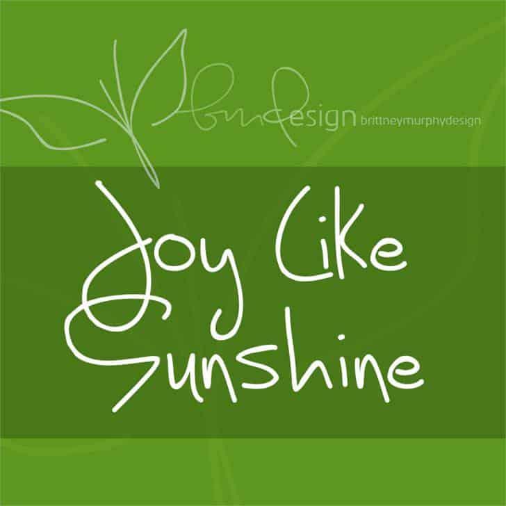 Joy Like Sunshine шрифт скачать бесплатно
