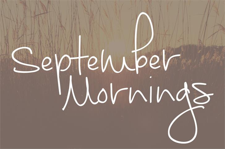 Download September Mornings font (typeface)