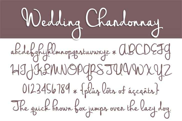Download Wedding Chardonnay font (typeface)