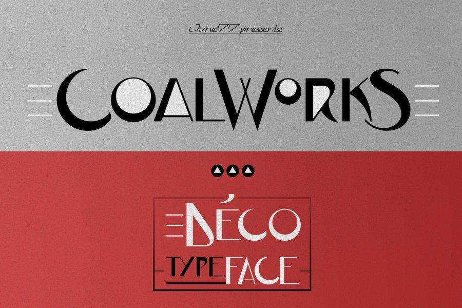 CoalWorks шрифт скачать бесплатно