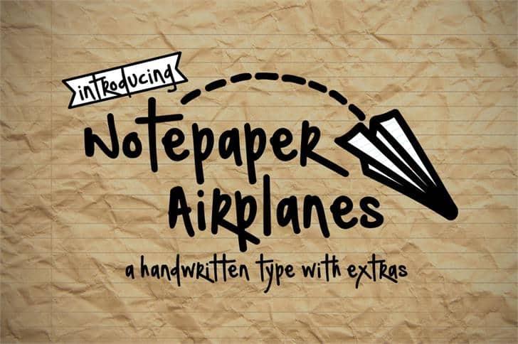 Download Notepaper font (typeface)