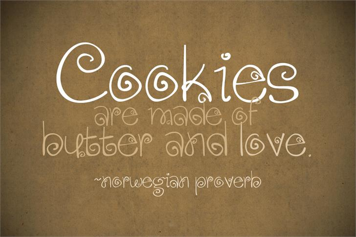 Download Gingersnaps font (typeface)