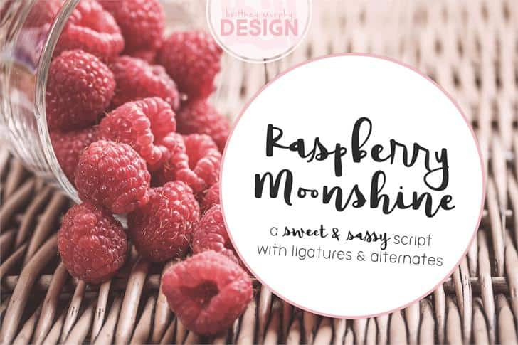 Download Raspberry Moonshine font (typeface)