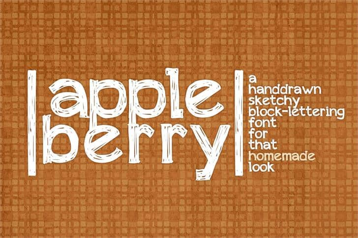 Download Appleberry font (typeface)
