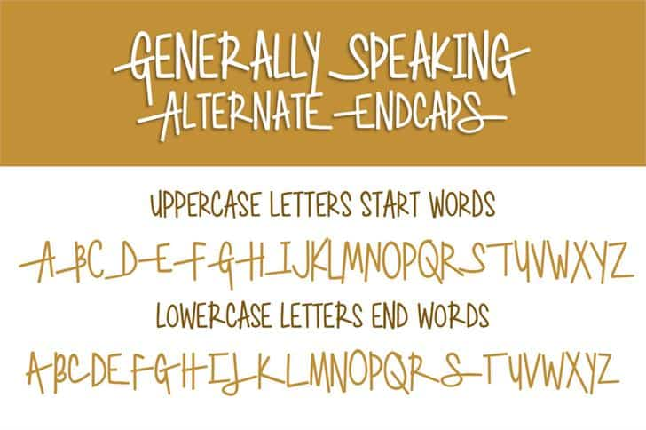 Download Generally Speaking font (typeface)