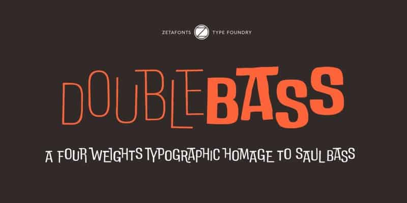 Download DoubleBass font (typeface)