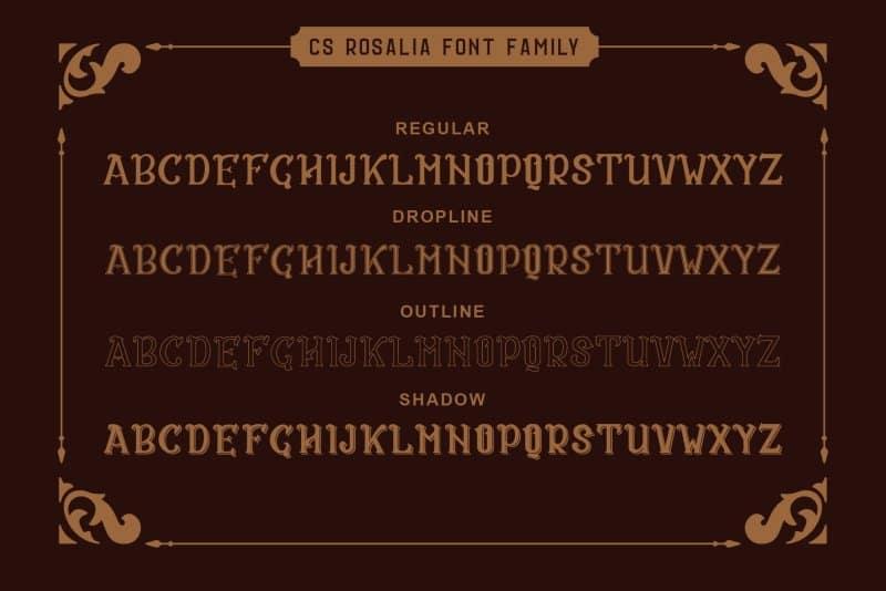 Download CS Rosalia font (typeface)