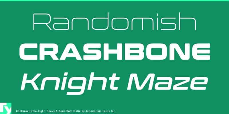 Download Conthrax SemiBold font (typeface)