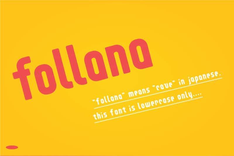 Download Follana font (typeface)